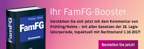Prütting/Helms (Hrsg.), FamFG Kommentar. 4. Auflage 2018.  Jetzt bestellen!