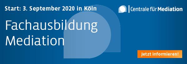 Fachausbildung Mediation - Start: 05.09.2019. Hier informieren und anmelden!